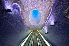 Naples subway. View of Toledo subway station in Naples Stock Image