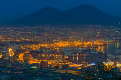 Naples in a summer night Stock Image