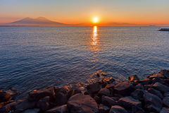 Naples, sunset Royalty Free Stock Photos
