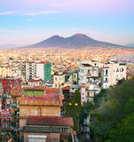 Naples at sunset, Italy Royalty Free Stock Photography