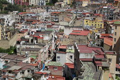 Naples from the top of the mountain. Viewing the roof tops royalty free stock image