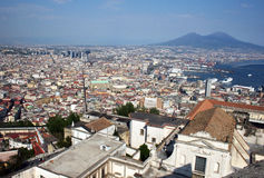 Naples and vesuvius Stock Photography