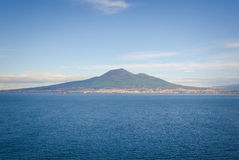 Naples and the Vesuvius Royalty Free Stock Image