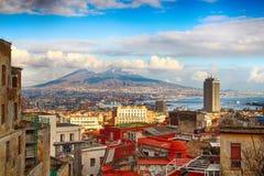 Naples Vesuvius i góra, Włochy Obraz Stock