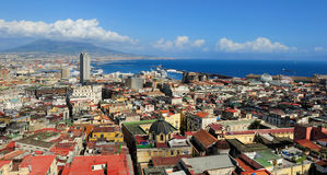 Naples, Vesuvius and port, Italy Royalty Free Stock Photography