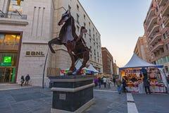 Naples,via roma BNL baripas Royalty Free Stock Images