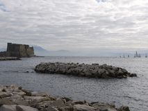 Naples, view of Castel dell Ovo royalty free stock image