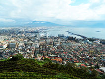 Naples view. A incredible view of Naples from the Castle Stock Image