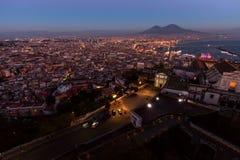 Naples, vue de sant'elmo de castel photos stock