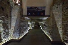 Naples WŁOCHY, CZERWIEC, - 01: Naples antyczne podziemne galerie przy Naples, Włochy na Czerwu 01, 2016 Fotografia Royalty Free