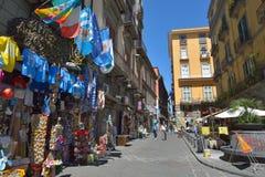 Naples, WŁOCHY, 01 CZERWIEC: Ulicy Naples, w Włochy na 01 2016 Czerwu Fotografia Royalty Free
