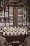 NAPLES, WŁOCHY - 04 Listopad, 201 Wnętrza i szczegóły San Gregorio Armeno kościół zdjęcia stock