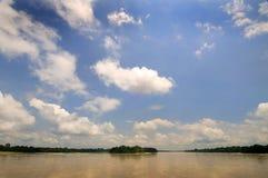 Napo river. In Ecuador's amazon basin Royalty Free Stock Images