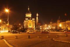 Napoca de Avram Iancu Quadrado-Cluj, Romania Imagem de Stock Royalty Free