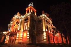 Napoca dicostruzione-Cluj del teatro nazionale, Romania Fotografia Stock