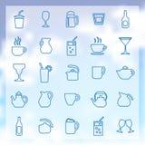 25 napojów ikon ustawiających Zdjęcie Royalty Free