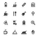 napojów jedzeń ikon minimo serie Obraz Stock