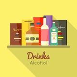 Napoju alkoholu Wektorowy pojęcie w Płaskim projekcie royalty ilustracja