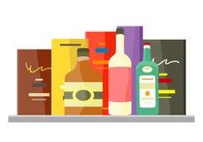 Napoju alkoholu Wektorowy pojęcie w Płaskim projekcie ilustracja wektor