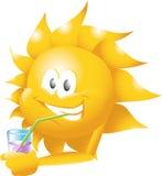 napoju słońce Obrazy Royalty Free