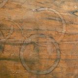 Napoju tło i kawa menu projekt Kawowy pierścionek na shab Obrazy Stock