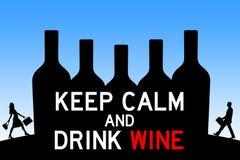 Napoju wino royalty ilustracja