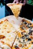 Napole薄饼和乳酪薄饼 免版税库存图片