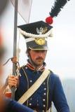 Napoleońskiej wojny żołnierz - reenactor  Zdjęcia Royalty Free