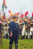 Napoleońskiej wojny żołnierze - reenactors Obraz Royalty Free