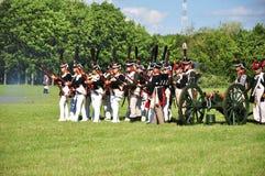 Napoleon-Armeekämpfen stockbild