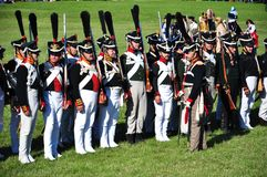 Napoleon army soldiers Royalty Free Stock Image