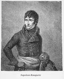 Napoleon Bonaparte, engraving portrait Royalty Free Stock Images