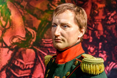 Napoleon Bonaparte Figurine At Madame Tussauds vaxmuseum royaltyfri fotografi