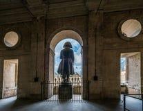 Napoleon Bonaparte statue in invalides back view stock photo