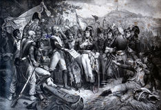 Napoleon Bonaparte z jego wojskiem przy bitwą Lodi Zdjęcia Royalty Free