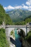 Napoleon Bridge Outside Kobarid Royalty Free Stock Photo