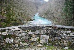 Napoleon Bridge in Slowenien Stockfotos