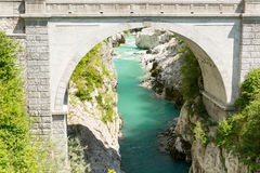 Napoleon bro i Kobarid Royaltyfria Bilder