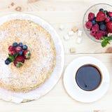 Napoleon cake with berries Royalty Free Stock Photo