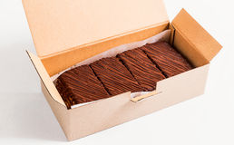 Napoleon cake pieces in a cardboard box Royalty Free Stock Photography