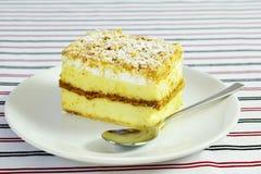 Napoleon cake slice stock image