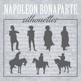 Napoleon forms and silhouettes royalty free illustration