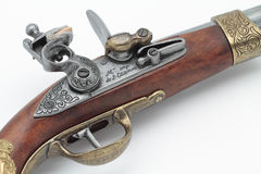 Napoleon gun. Foreground hammer and trigger gun that belonged to Napoleon Bonaparte Royalty Free Stock Images