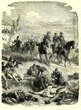 Napoleon III na polu bitwy ilustracji