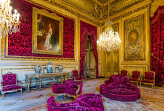 Napoleon IIIS lägenhet på Louvremuseet Royaltyfri Fotografi