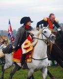 Napoleon jedzie białego konia Fotografia Stock