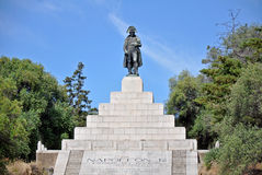 Napoleon monument in Corsica. With base and stairs Stock Photography