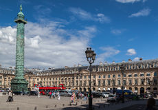 Napoleon Monument Place Vendome Paris Stock Photo