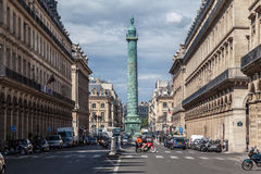 Napoleon Monument Place Vendome Paris Royalty Free Stock Photo