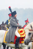Napoleon riding a horse at historical reenactment Royalty Free Stock Photo